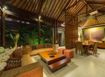 Villa Lakshmi Kawi, Living Room at Night