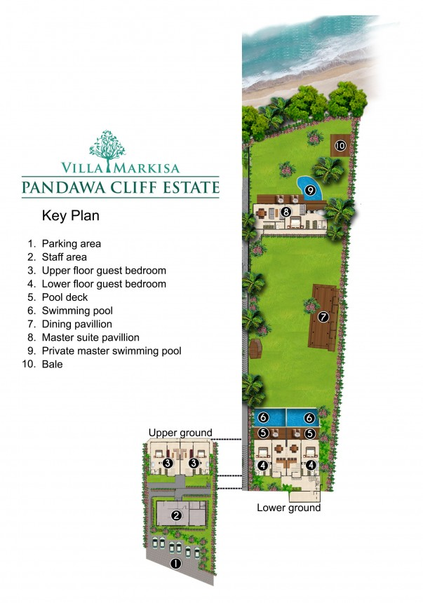 Villa Markisa - Pandawa Cliff Estate Floor Plan