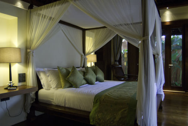 Romantic Four Poster Beds astika toyaning private 4 bedroom villa canggu bali | bali luxury
